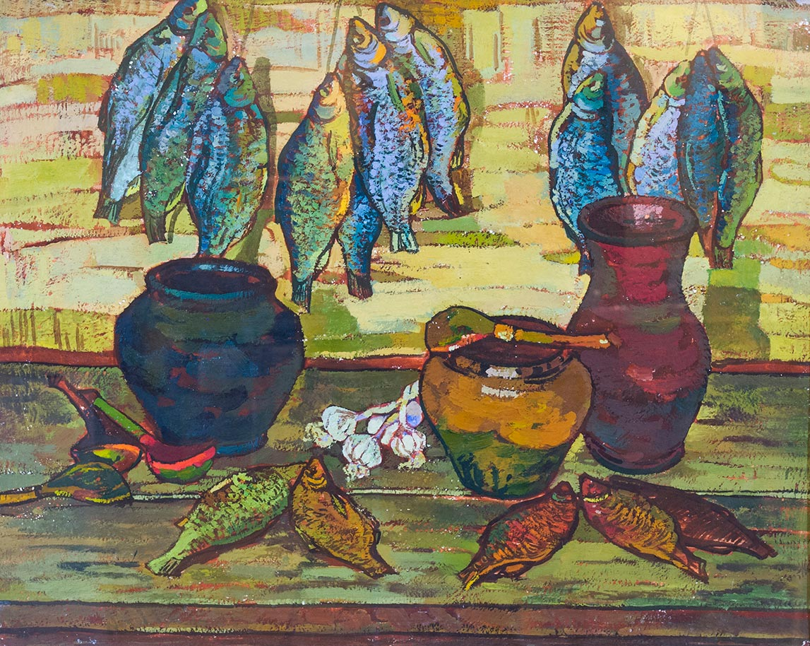 Натюрморт с рыбами.