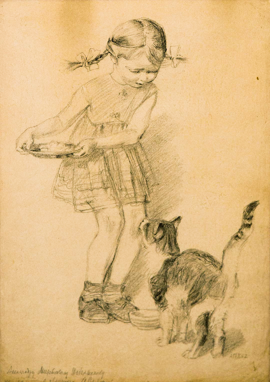 Girl with a cat.