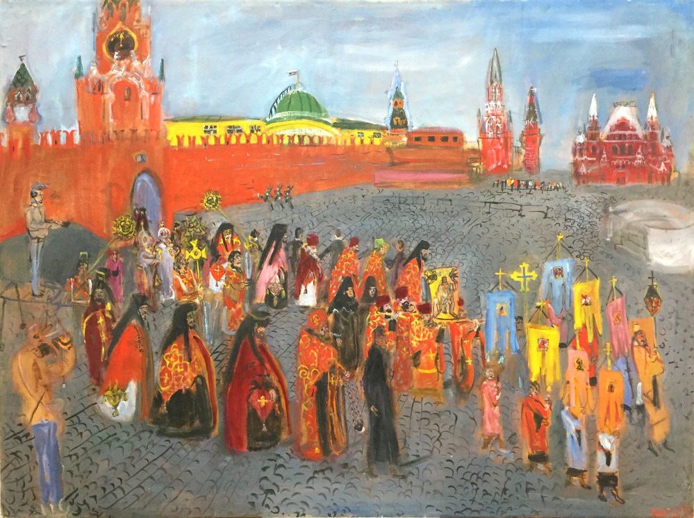 Religious Procession on Red Square.