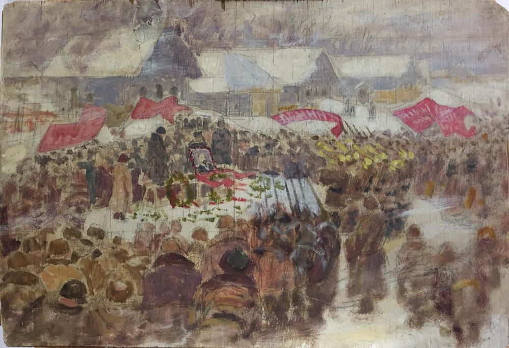 In memory of Lenin.