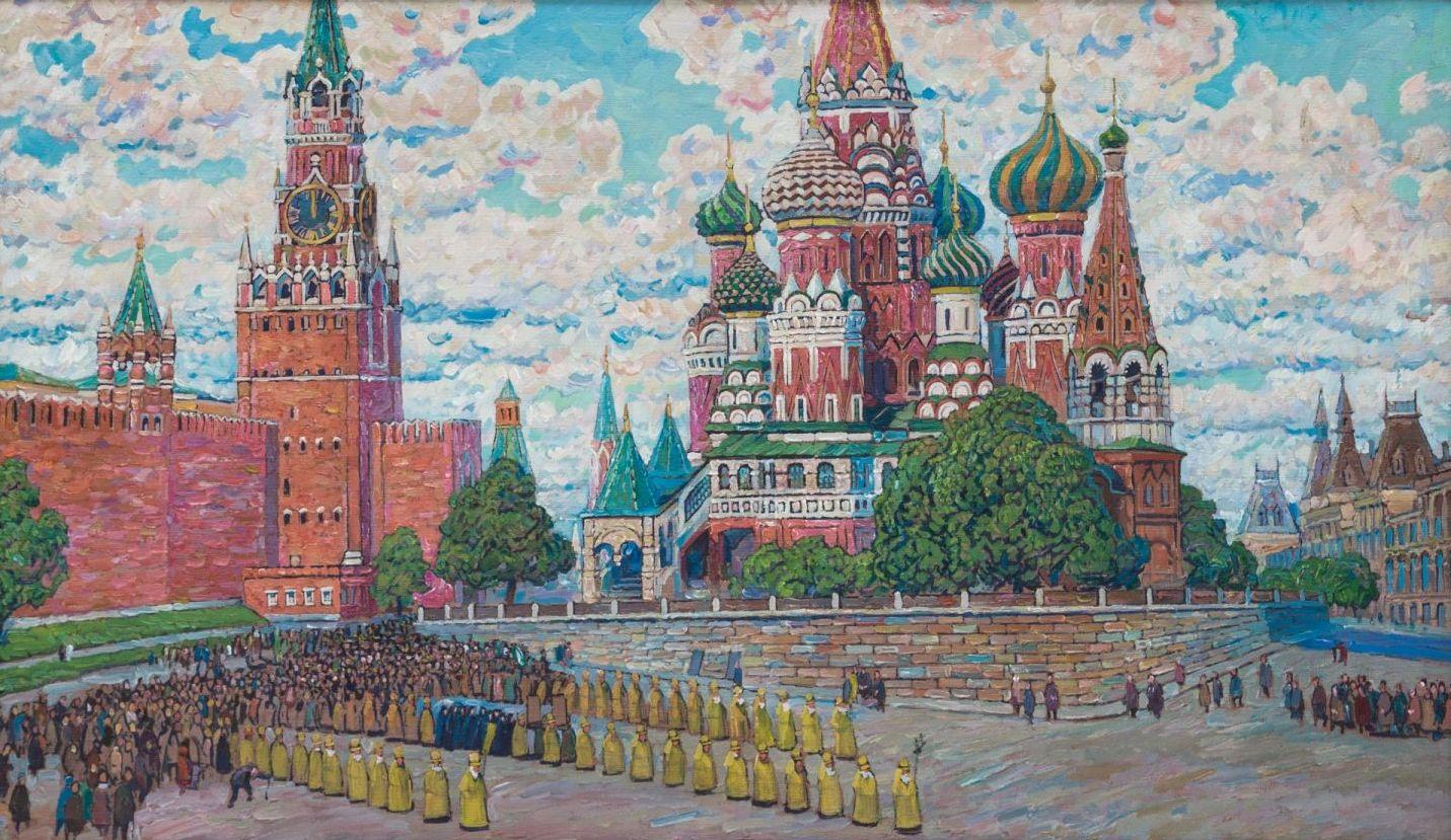 Крестный ход из Кремля.