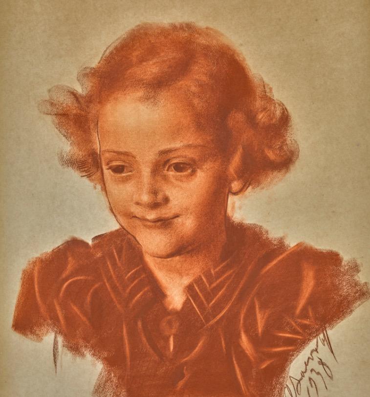Портрет маленькой девочки.