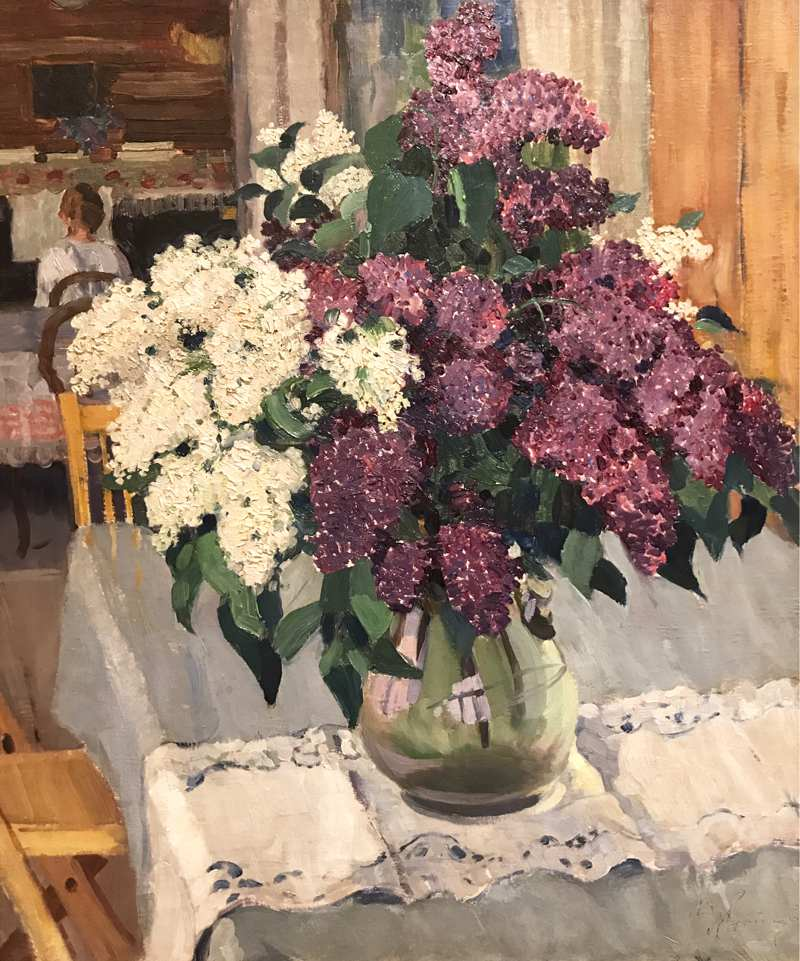 A bouquet of lilacs.