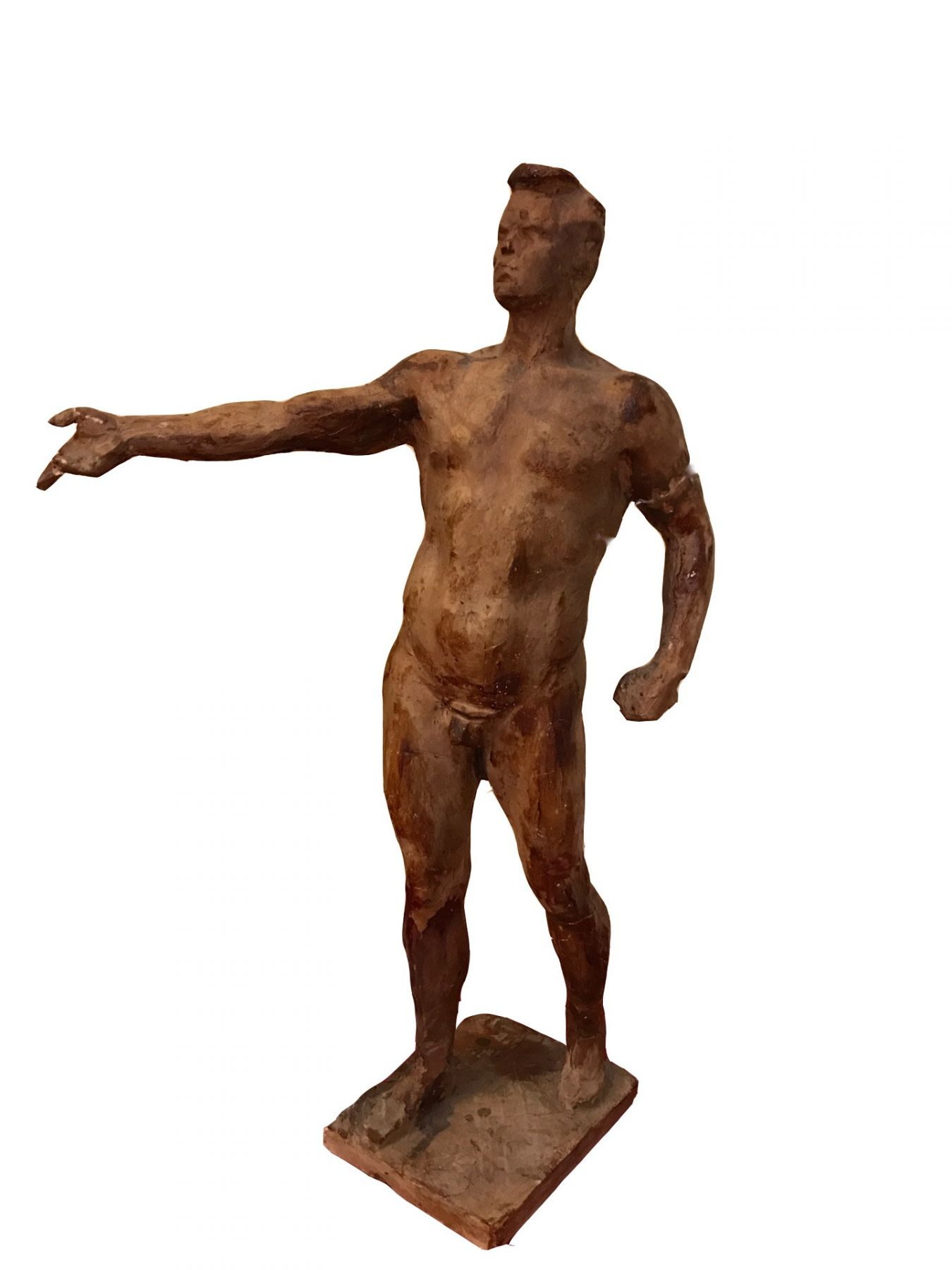 Etude of male sculpture for composition