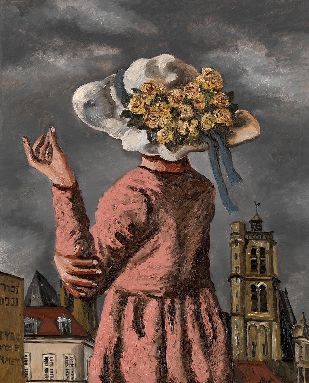Шляпка, <br> украшенная цветами.