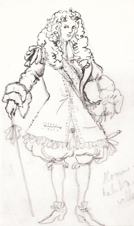Эскиз костюма к театральный постановке