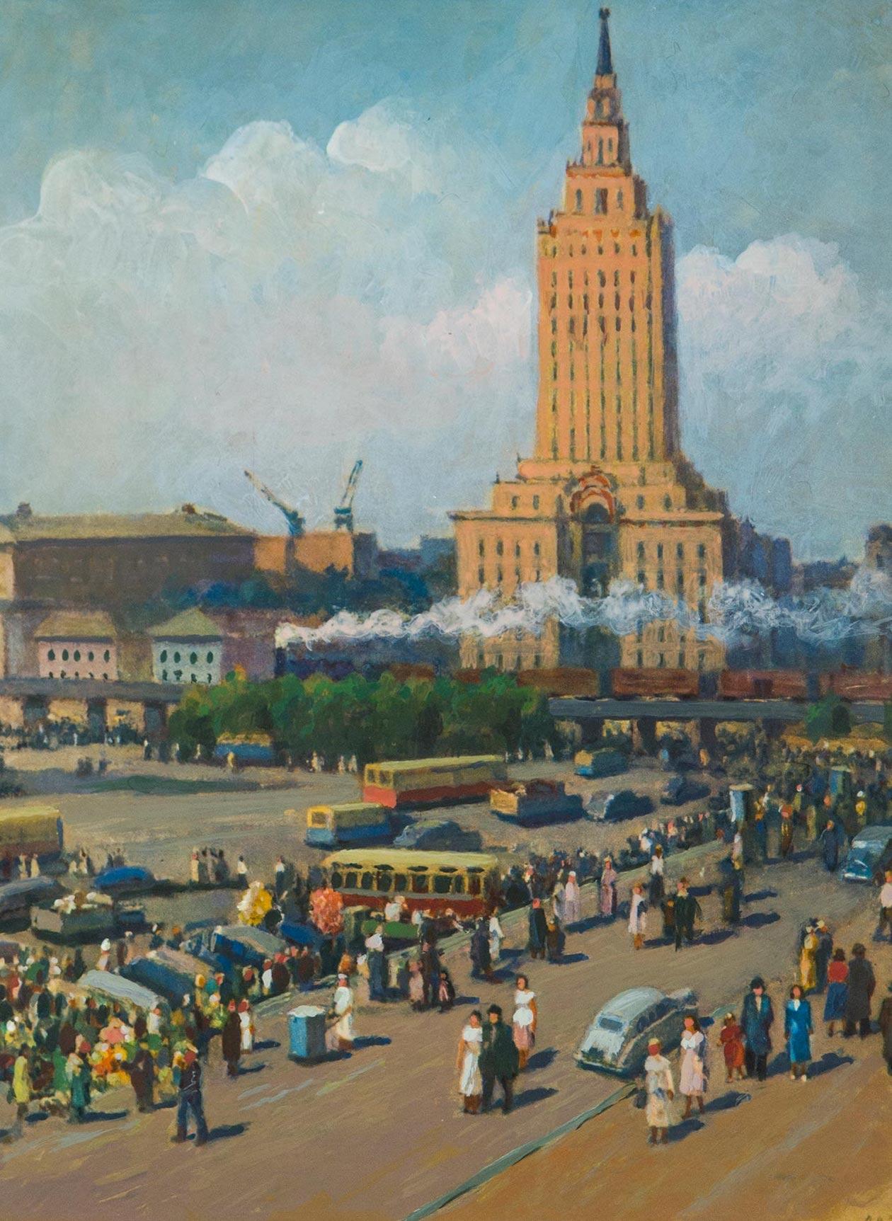 Москва. Площадь трех вокзалов.