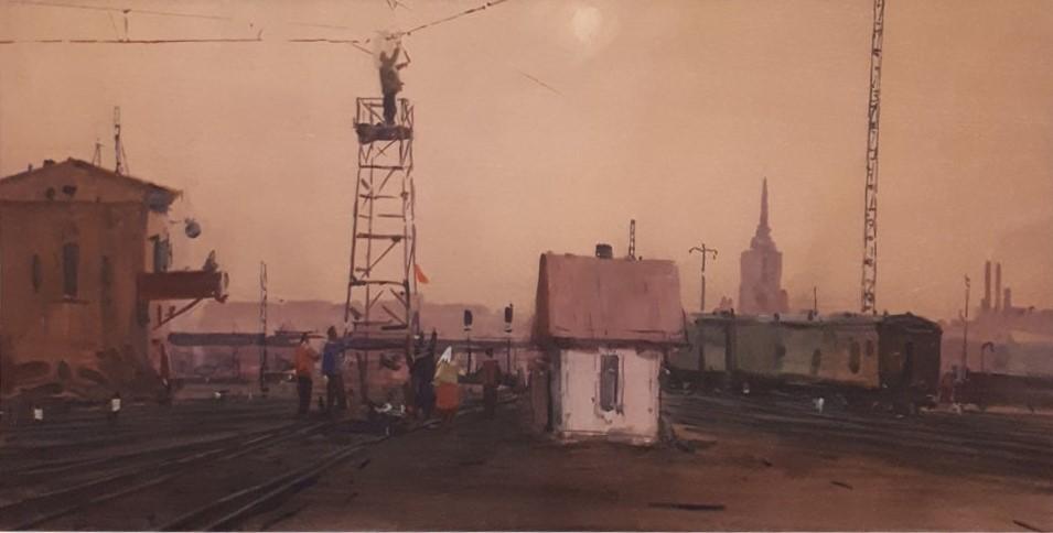 Вид на площадь трех вокзалов.