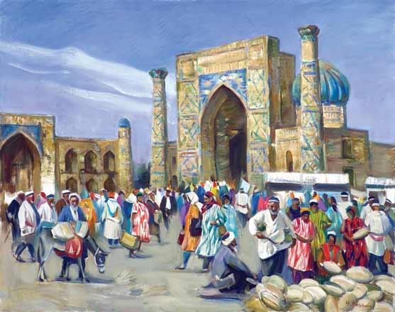 Базар в Самарканде.