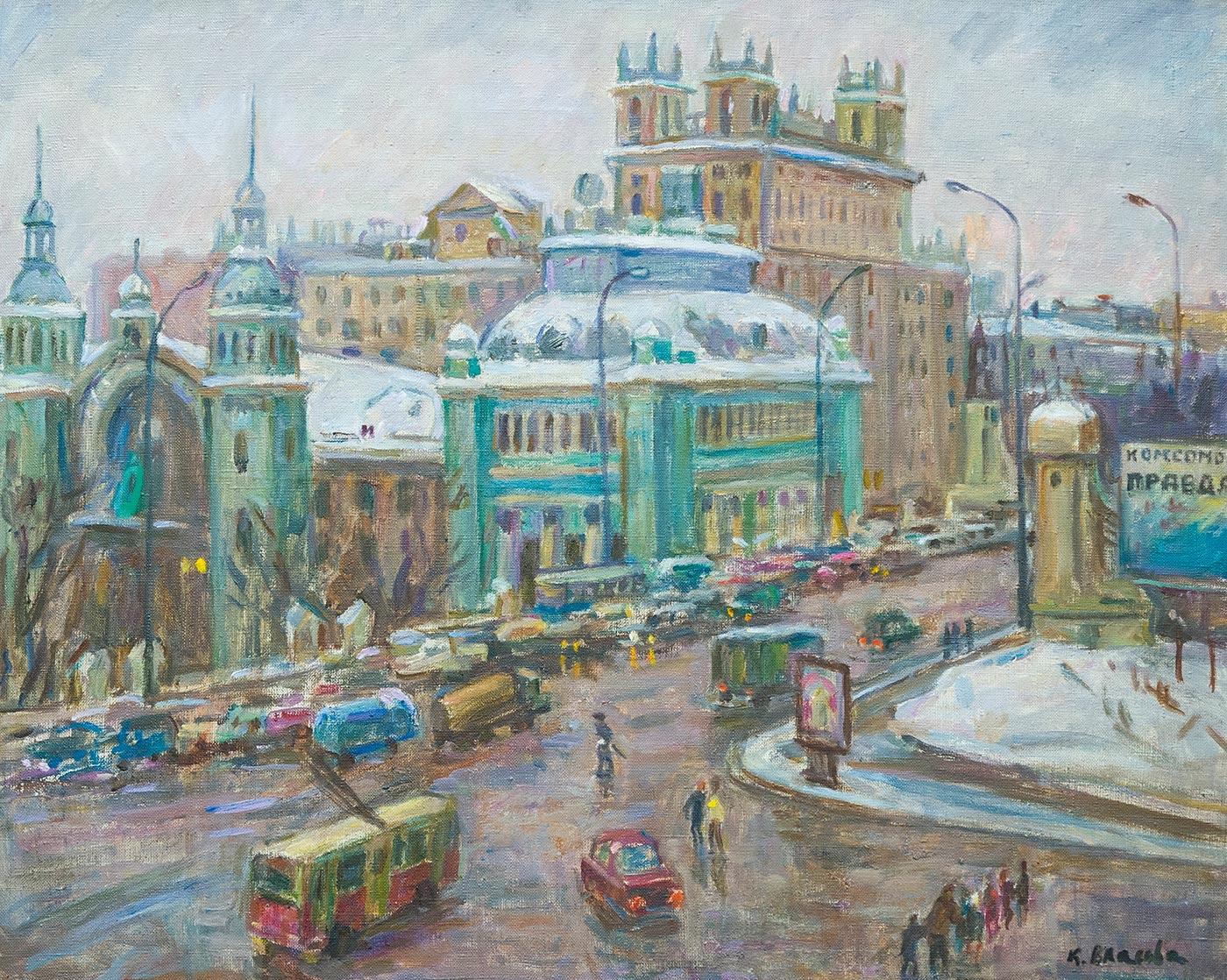 Белорусский вокзал.