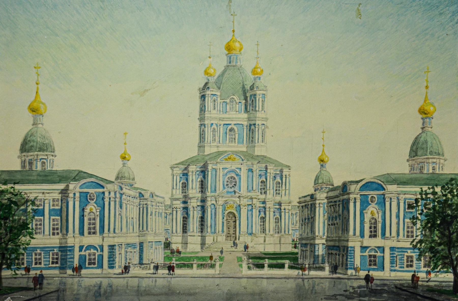 Собор Смольного монастыря.