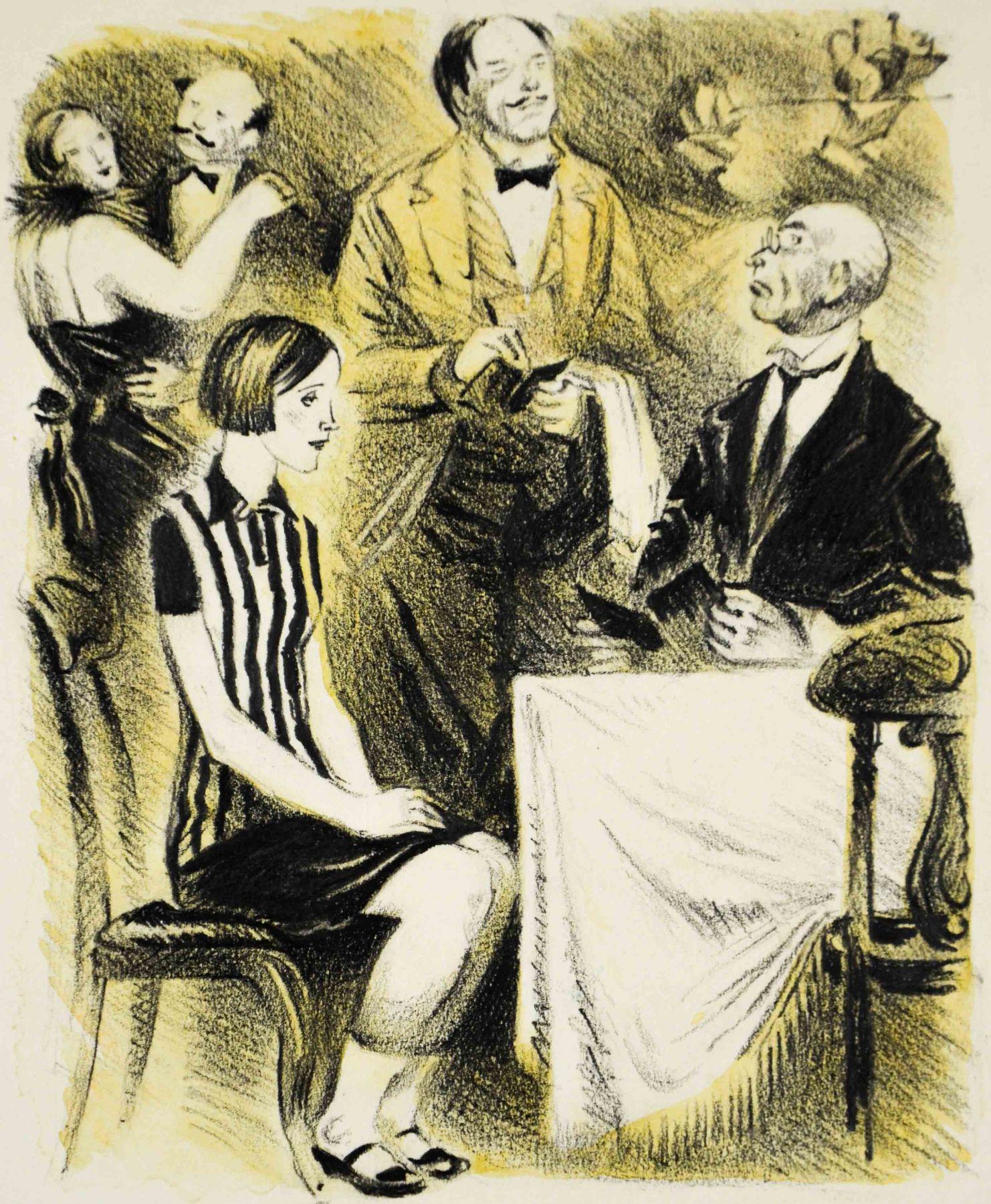 Иллюстрация к роману И. Ильфа и Е. Петрова «Двенадцать стульев».