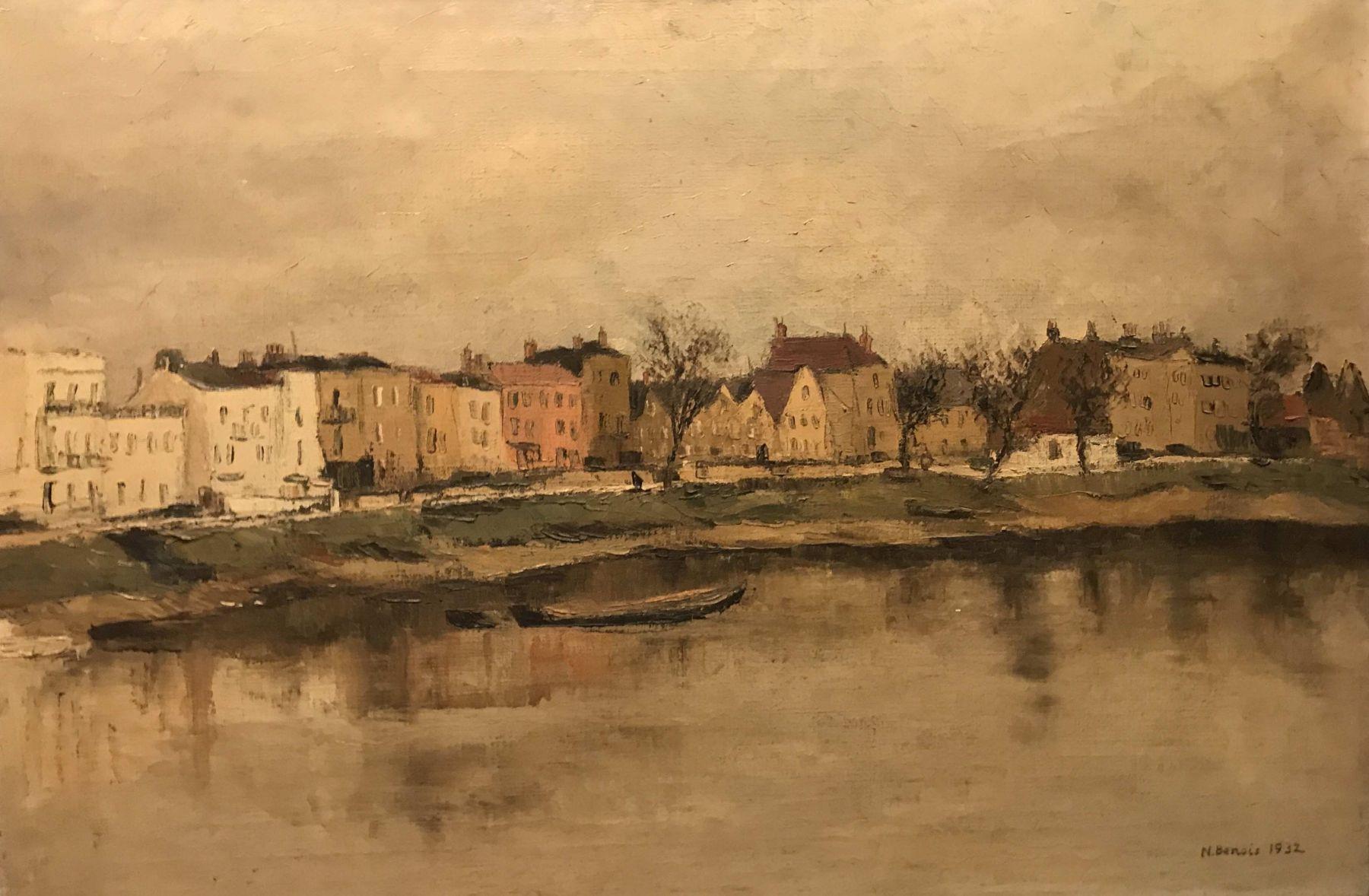 River bank. Autumn landscape.