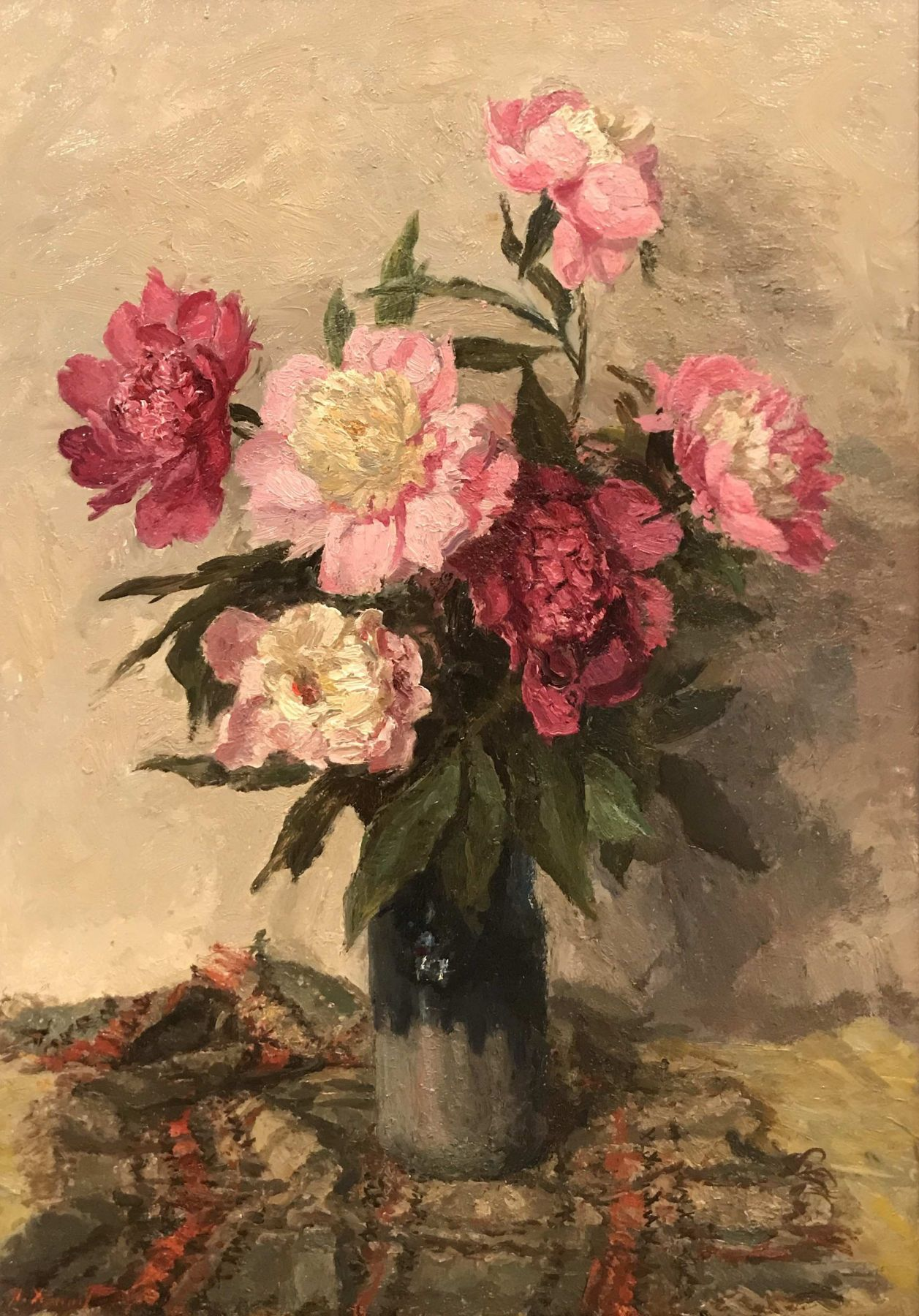 Still life with peonies.