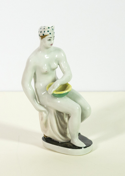 Nude with a basin.