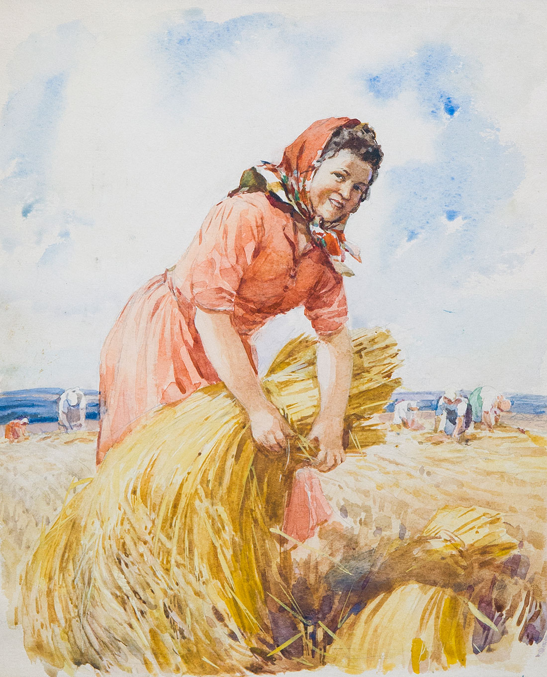 Harvest. Illustration for the magazine