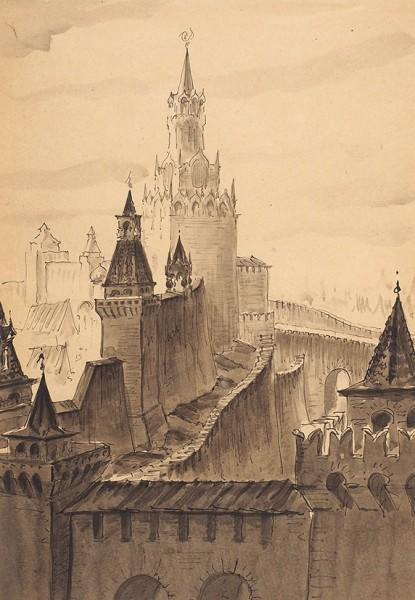 Московский Кремль. Спасская башня.
