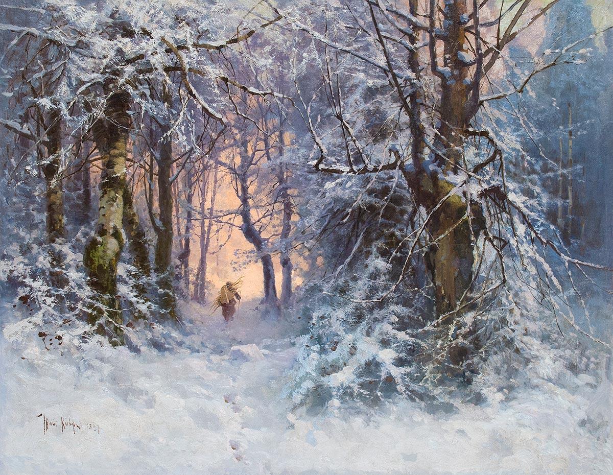 Winter landscapeж.