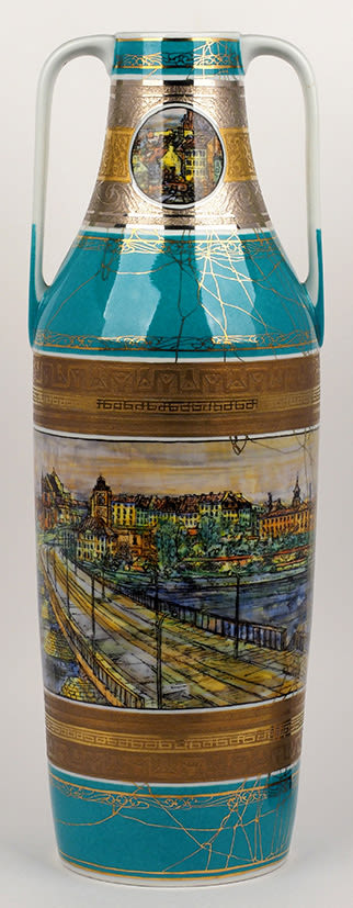 Vase with a view of Warsaw.