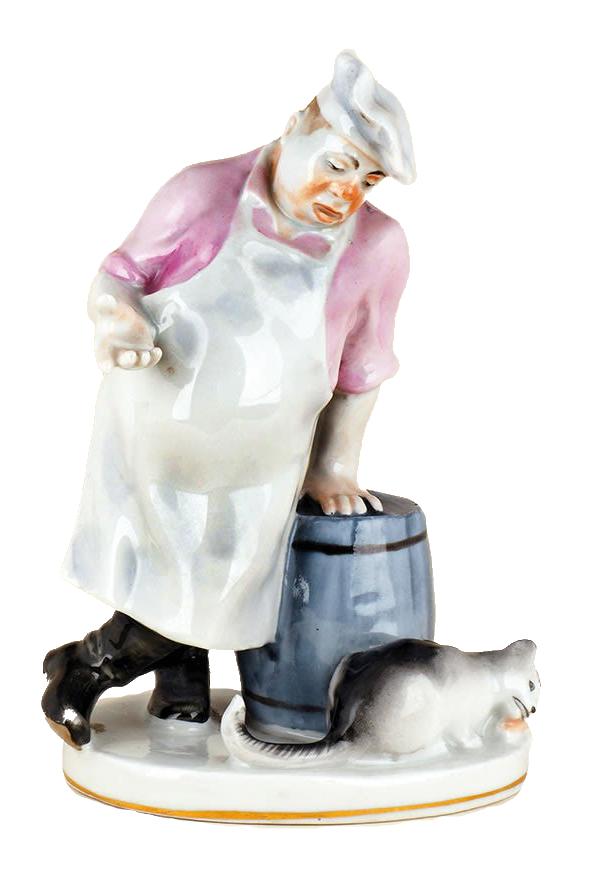 Скульптура «Кот и повар».