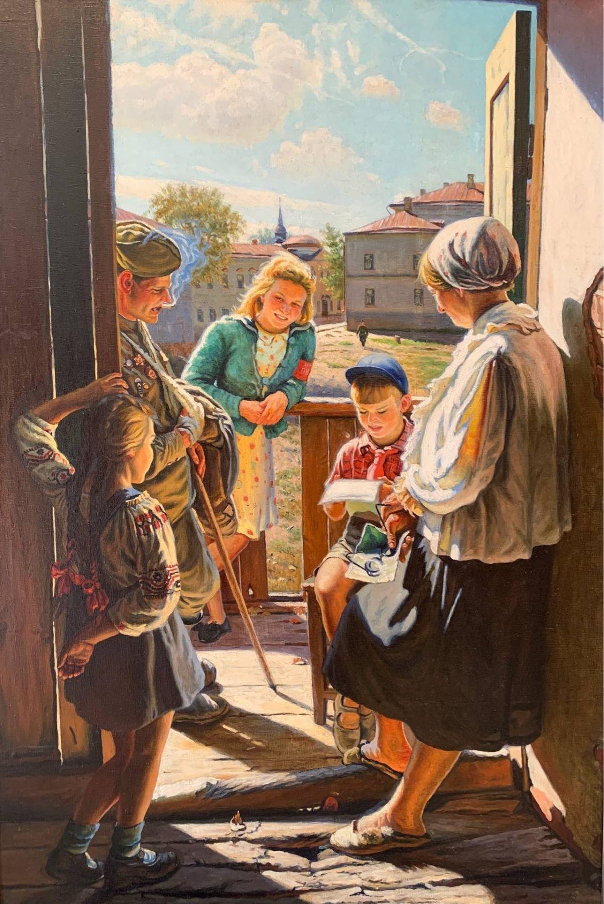 Письмо с фронта. Копия с картины А.И. Лактионова.