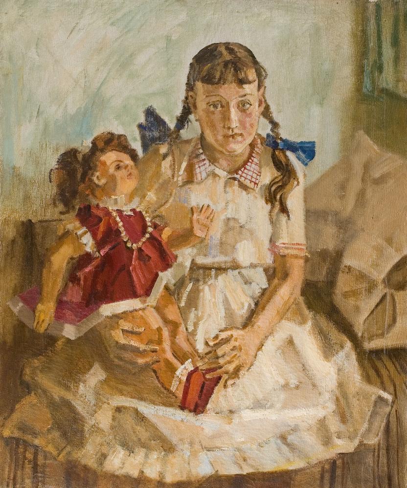 Девочка с куклой.