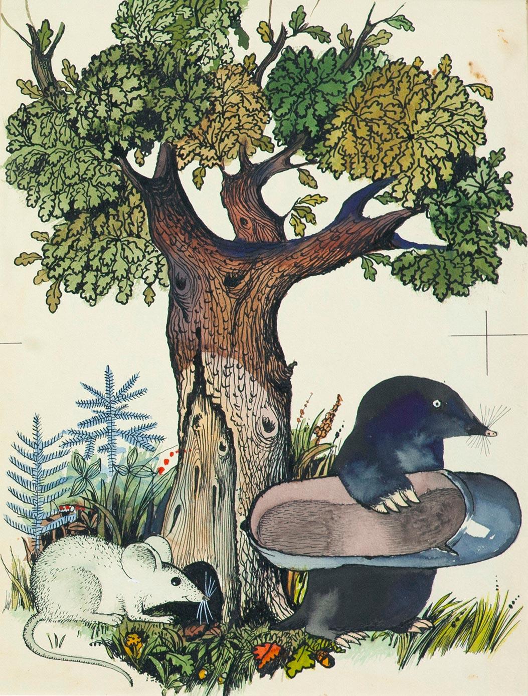 Крот и мышь. Иллюстрация к книге М. Пляцковского