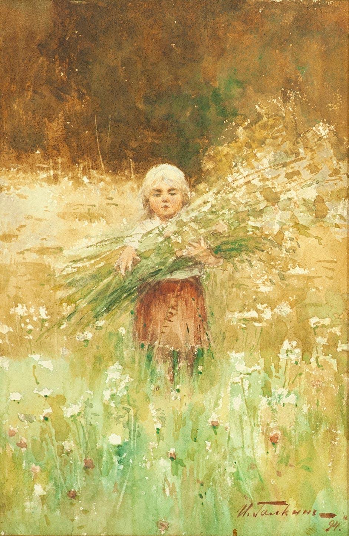 Девочка в поле.