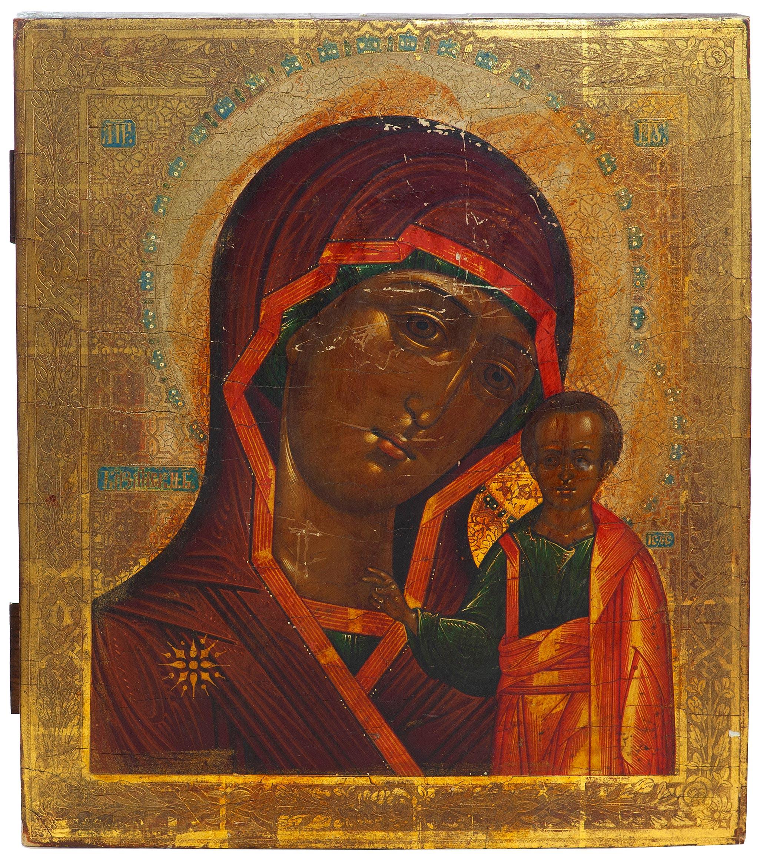 Икона. Казанская Божия Матерь.
