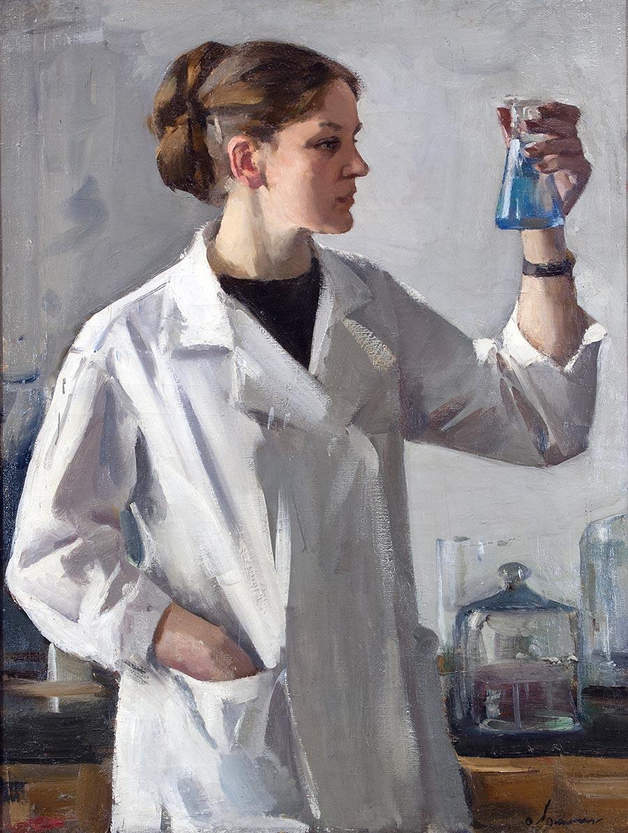 Лаборантка.