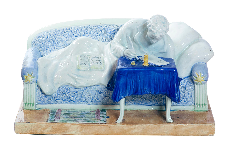 Пушкин на диване.