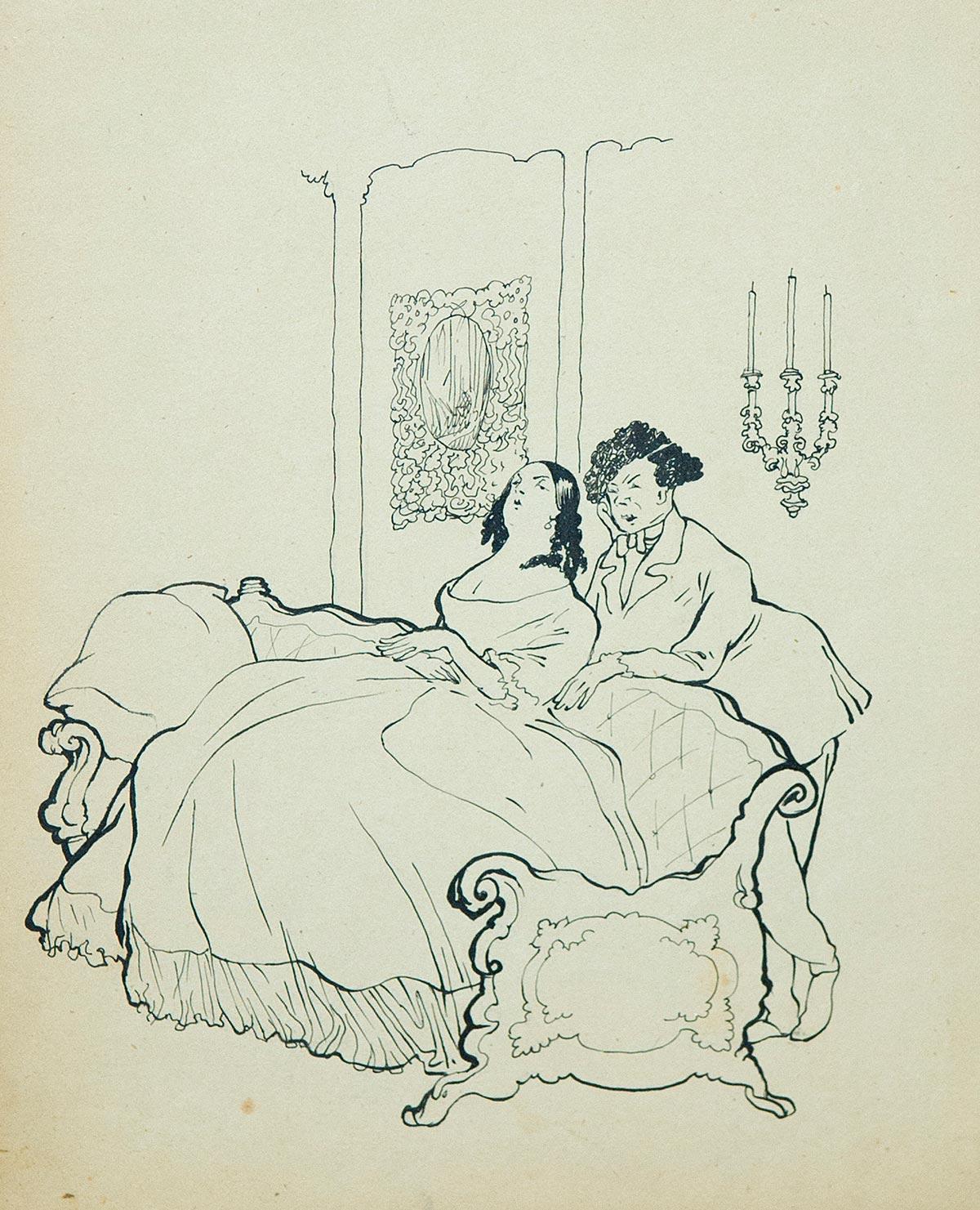 В гостиной. Иллюстрация к рассказу М. Твена