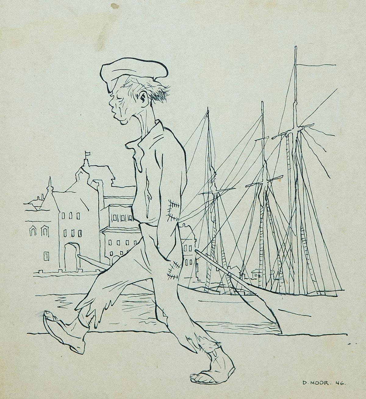 На набережной. Иллюстрация к рассказу М. Твена