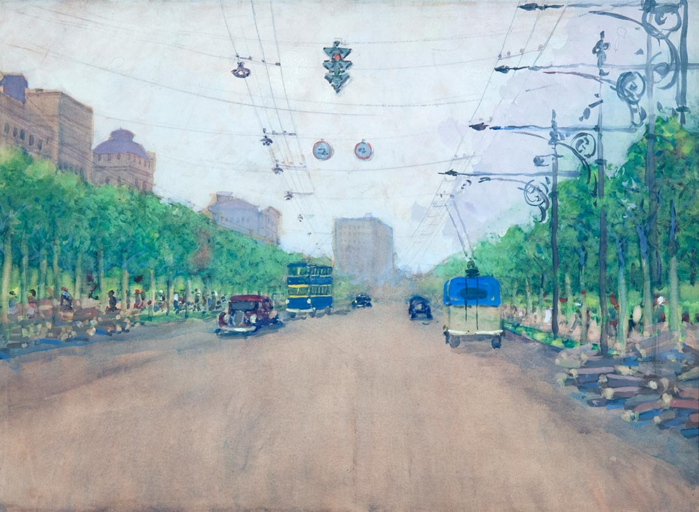 Москва. Улица Горького.