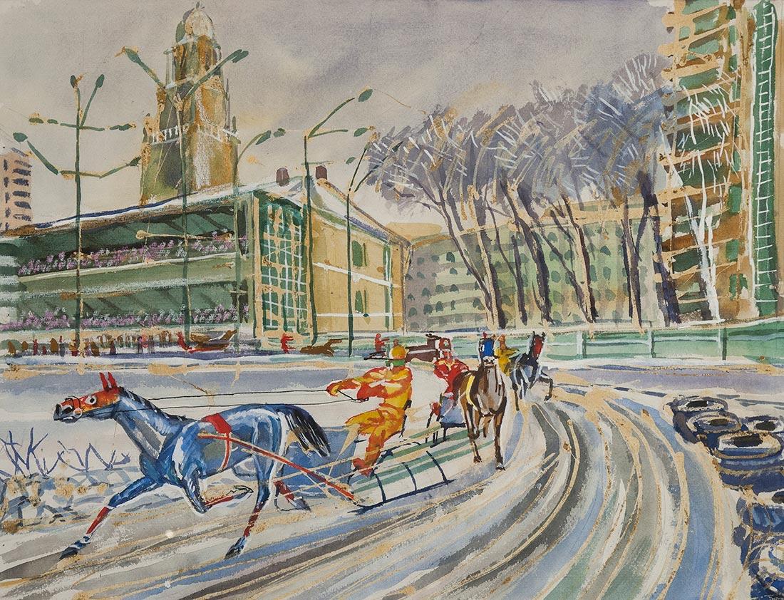 Москва. Зима на ипподроме.