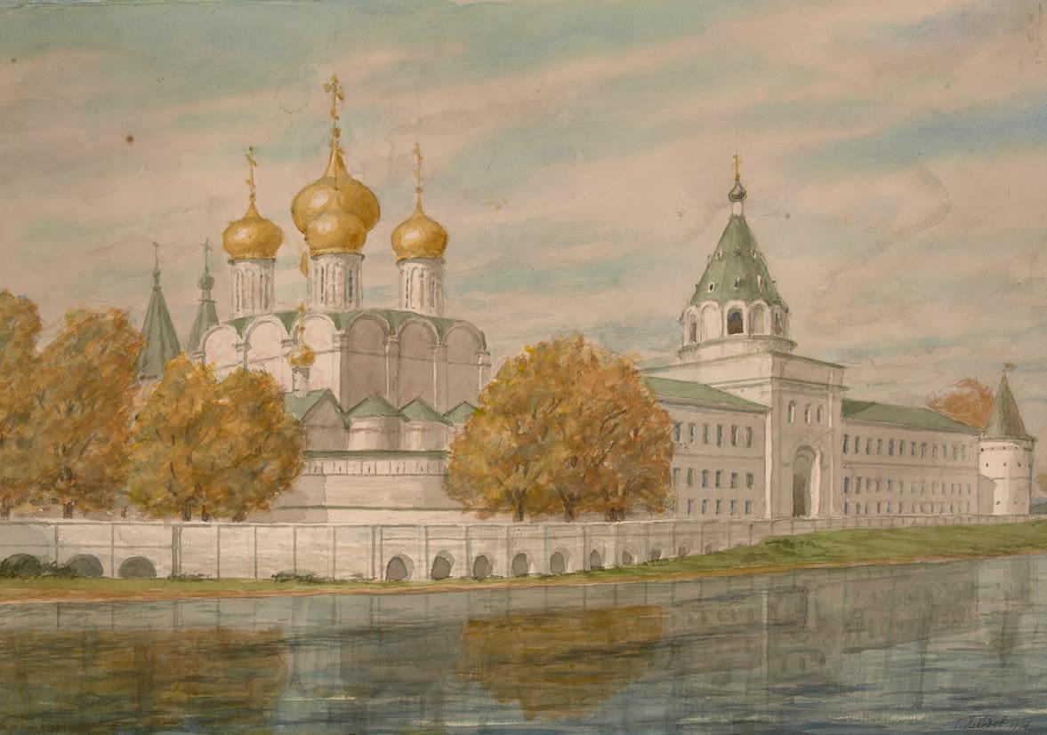 Вид Ипатьевского монастыря в Костроме.
