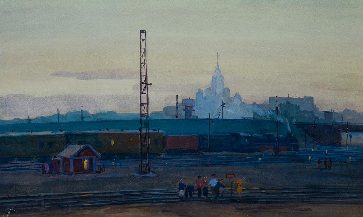 Вид на высотку от Московской окружной дороги.
