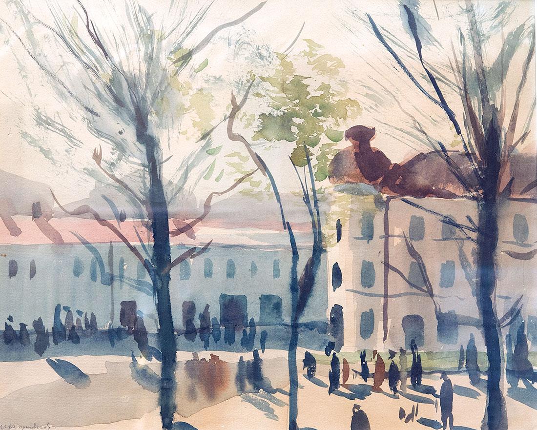 Ленинградский пейзаж.