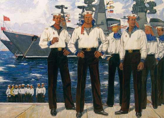Моряки.