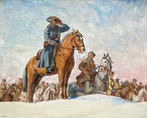 Генерал Доватор на передовой.
