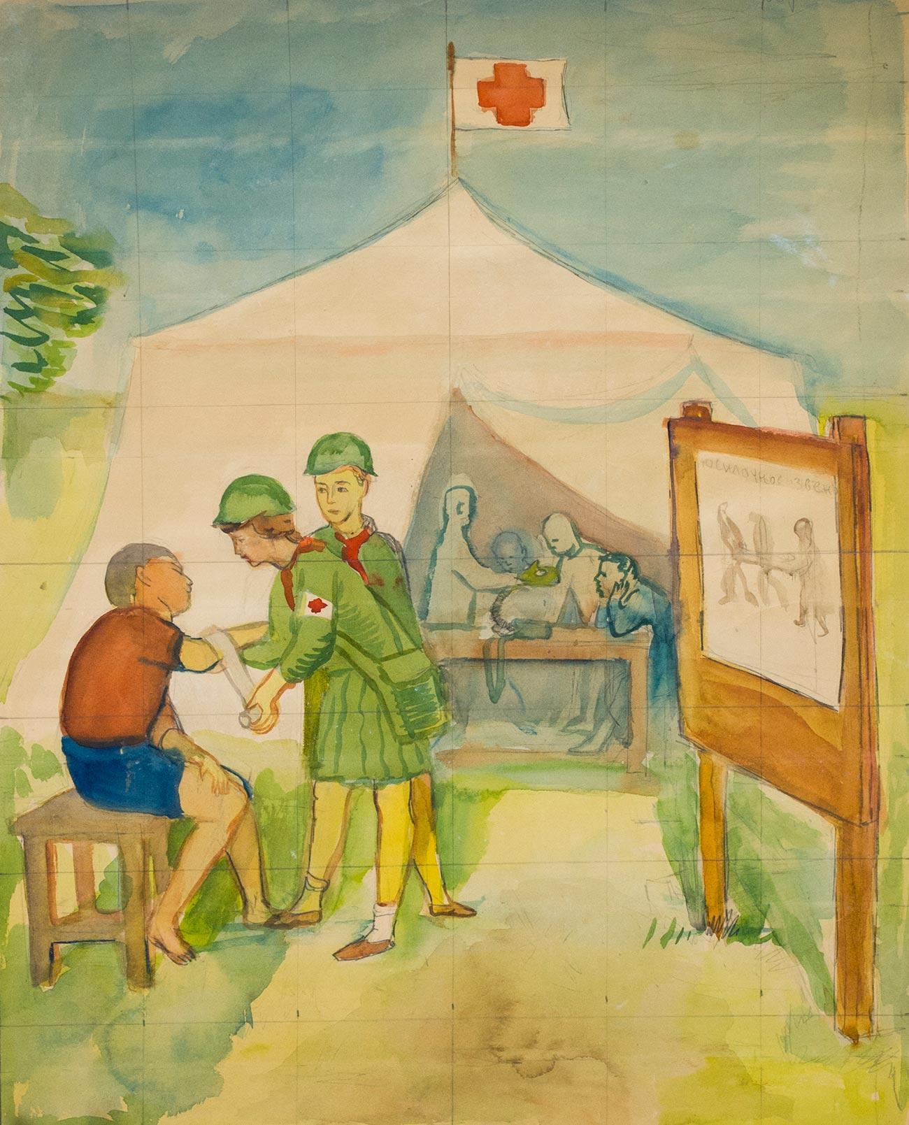 Вакцинация в пионерском лагере.