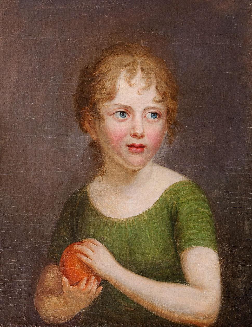 Портрет девочки с апельсином.