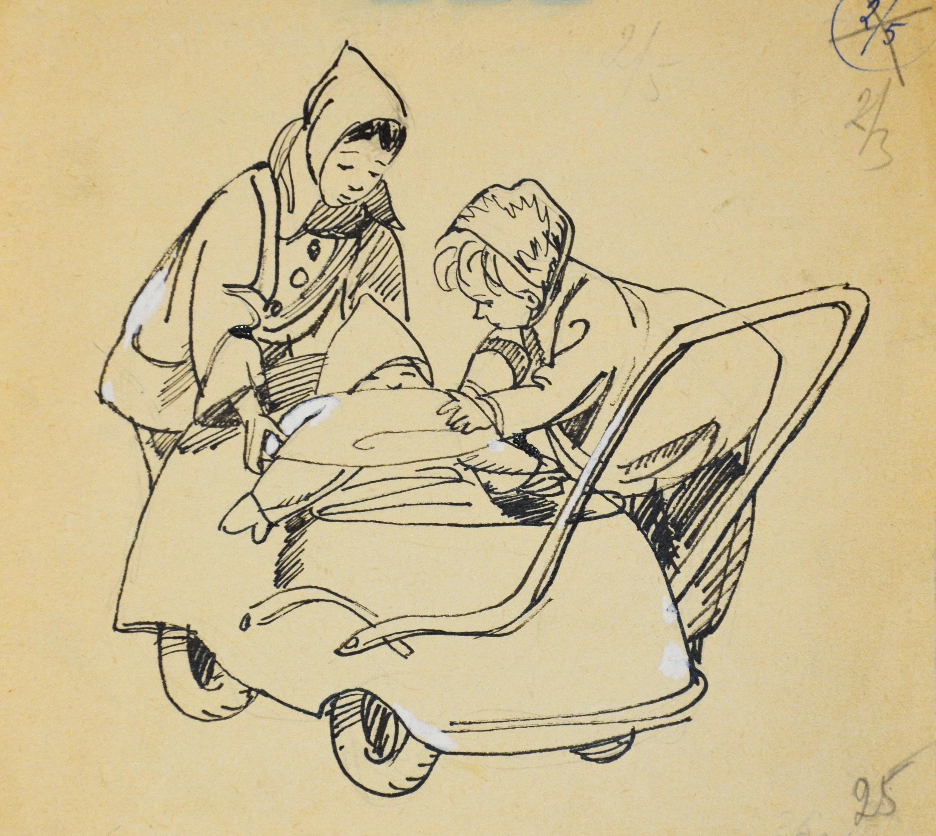 Наступили холода. Иллюстрация к сборнику А. Барто
