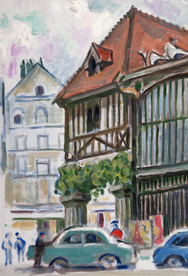 Руан. Старый рынок на площади.