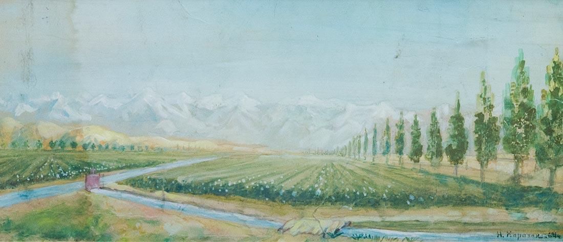 Колхозный пейзаж.