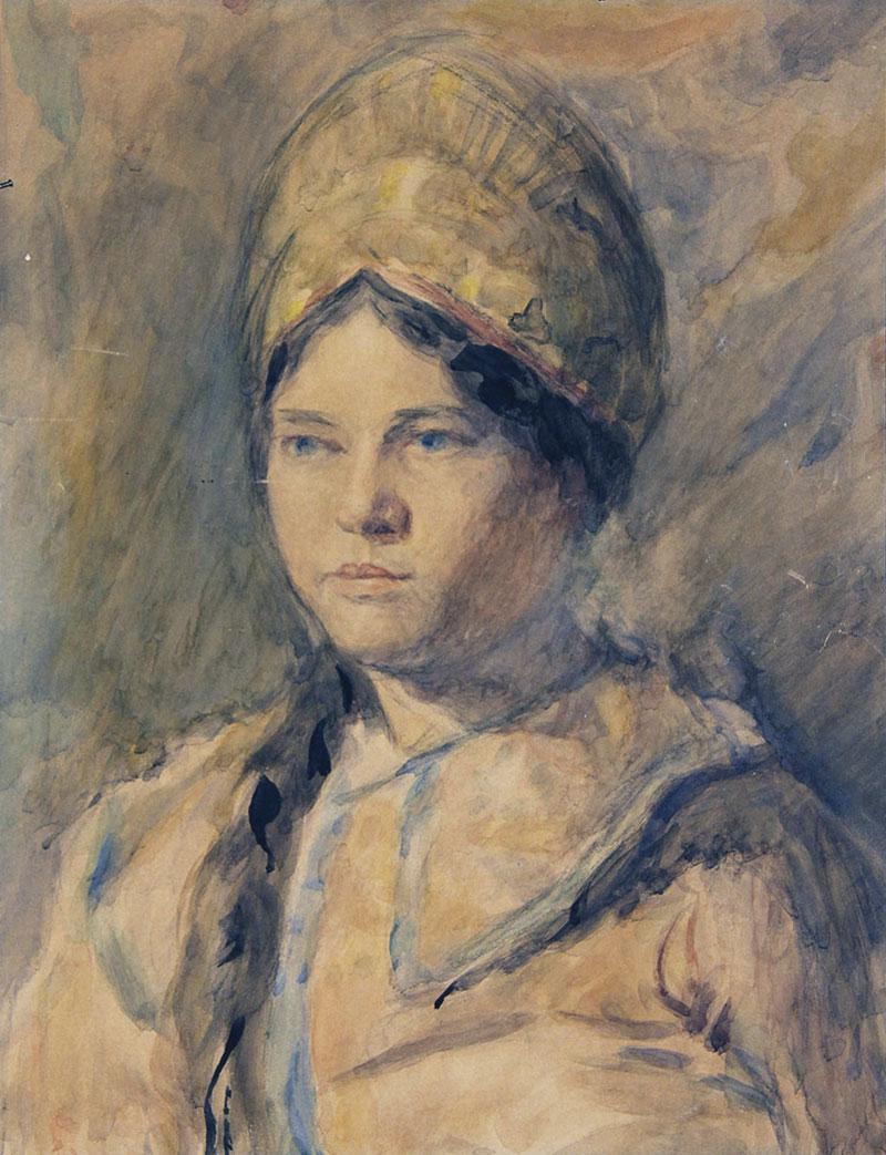 Девушка в русском костюме.
