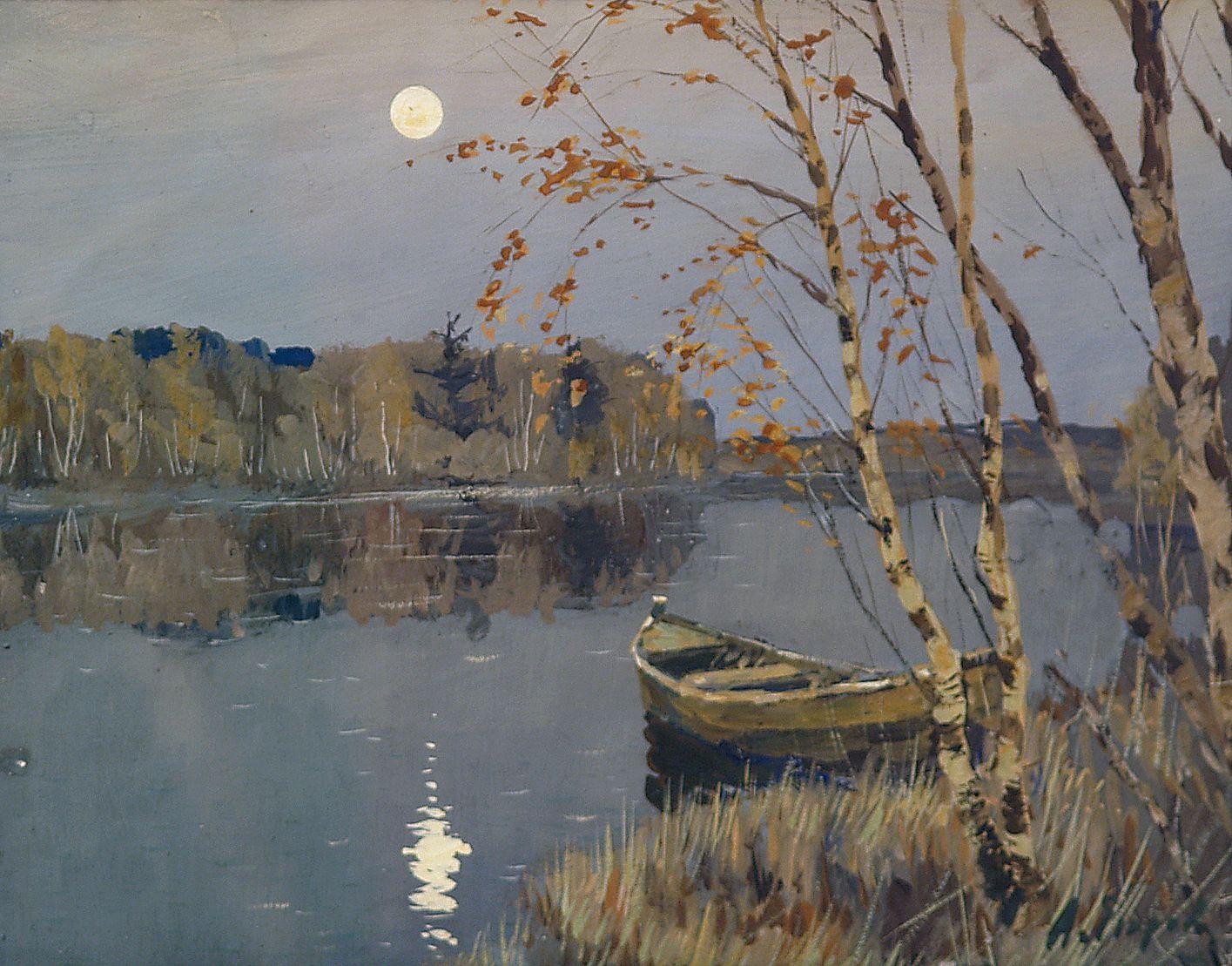 Луна над озером.
