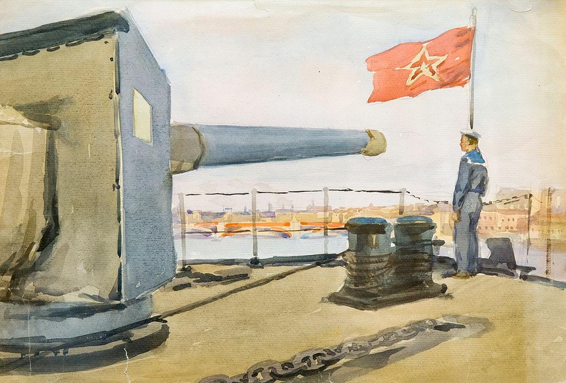 На ленинградском рейде.