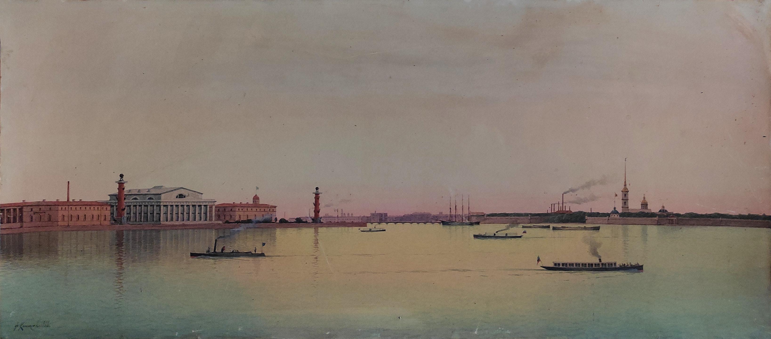 Вид Санкт-Петербурга со стороны Невы.