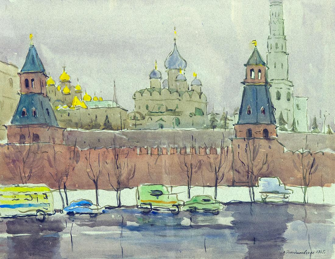 Москва. Серый день.